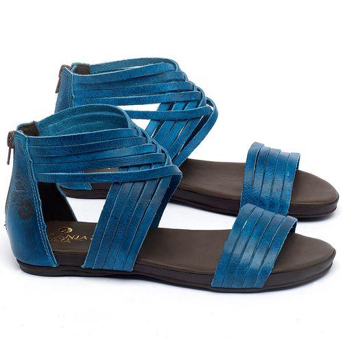 Laranja_Lima_Shoes_Sapatos_Femininos_Sandalia_Rasteira_Flat_em_Couro_Azul_-_Codigo_-_137189_1