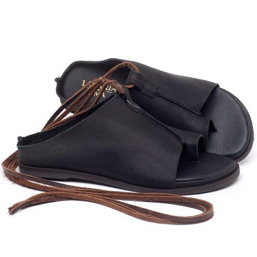 Laranja_Lima_Shoes_Sapatos_Femininos_Sandalia_Rasteira_Flat_em_Couro_Preto_-_Codigo_-_137200_1