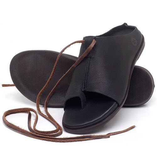 Laranja_Lima_Shoes_Sapatos_Femininos_Sandalia_Rasteira_Flat_em_Couro_Preto_-_Codigo_-_137200_2