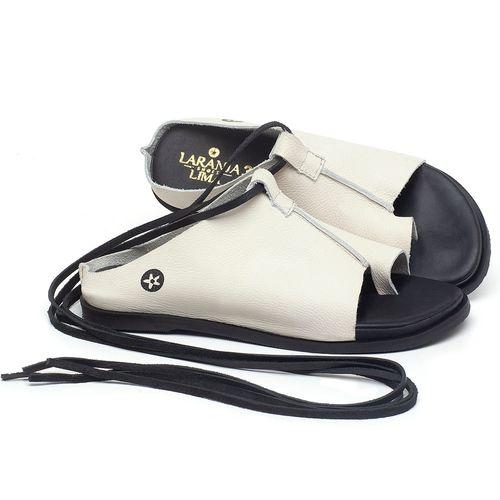 Laranja_Lima_Shoes_Sapatos_Femininos_Sandalia_Rasteira_Flat_em_Couro_Off-White_-_Codigo_-_137200_1