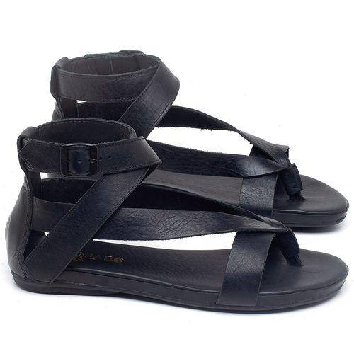 Laranja_Lima_Shoes_Sapatos_Femininos_Sandalia_Rasteira_Flat_em_Couro_Preto_-_Codigo_-_137289_1