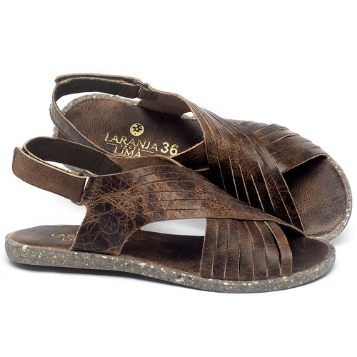 Laranja_Lima_Shoes_Sapatos_Femininos_Sandalia_Rasteira_Flat_em_Couro_Marrom_-_Codigo_-_137311_1