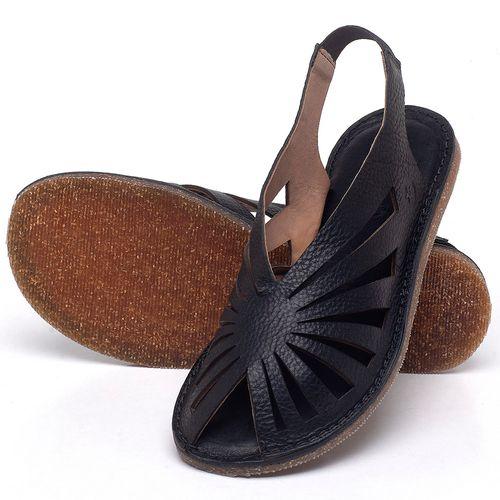 Laranja_Lima_Shoes_Sapatos_Femininos_Sandalia_Rasteira_Flat_em_Couro_Preto_-_Codigo_-_141152_2
