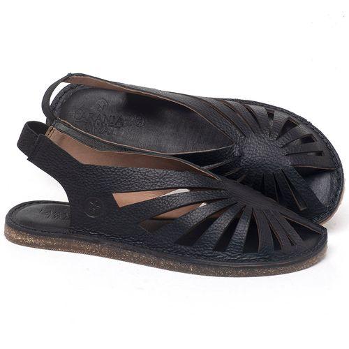 Laranja_Lima_Shoes_Sapatos_Femininos_Sandalia_Rasteira_Flat_em_Couro_Preto_-_Codigo_-_141152_1