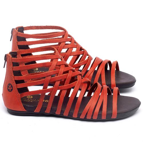 Laranja_Lima_Shoes_Sapatos_Femininos_Sandalia_Rasteira_Flat_em_Couro_Vermelho_-_Codigo_-_137188_1