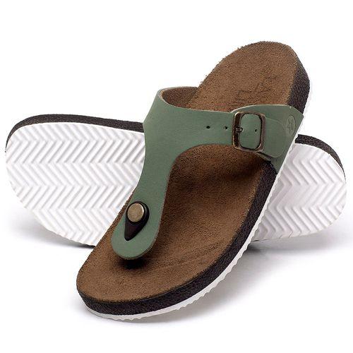 Laranja_Lima_Shoes_Sapatos_Femininos_Sandalia_Rasteira_Flat_em_Couro_Verde_-_Codigo_-_148033_2