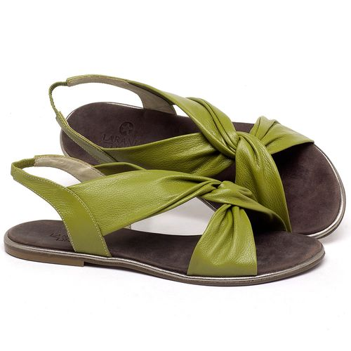 Laranja_Lima_Shoes_Sapatos_Femininos_Sandalia_Rasteira_Flat_em_Couro_Verde_-_Codigo_-_3654_1