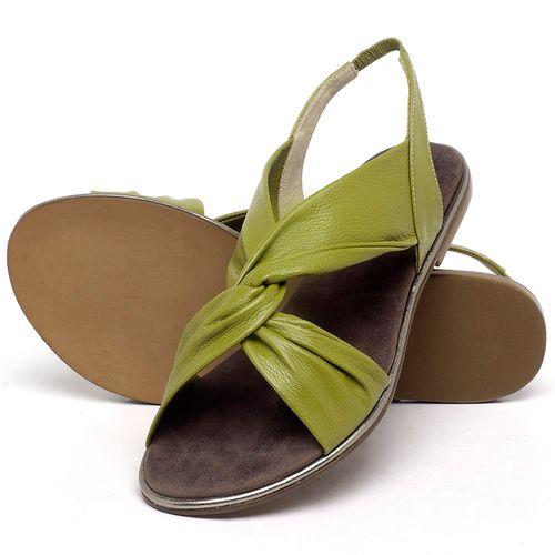Laranja_Lima_Shoes_Sapatos_Femininos_Sandalia_Rasteira_Flat_em_Couro_Verde_-_Codigo_-_3654_2