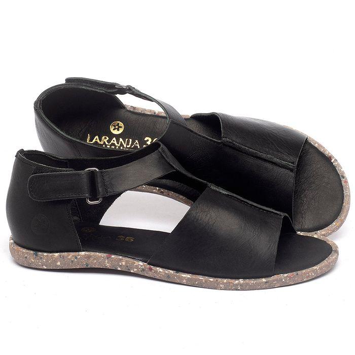 Laranja_Lima_Shoes_Sapatos_Femininos_Sandalia_Rasteira_Flat_em_Couro_Preto_-_Codigo_-_137310_1