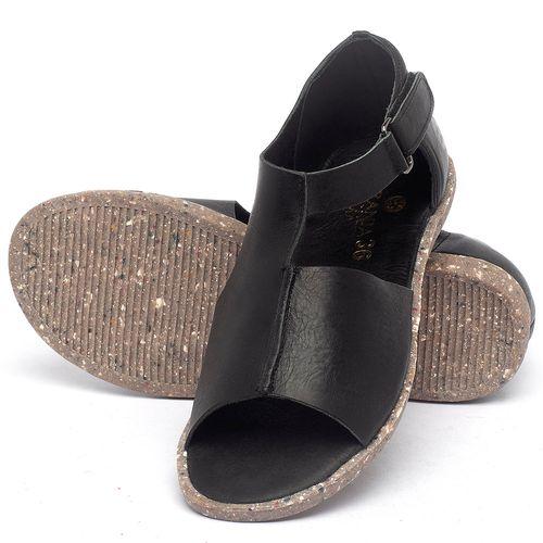 Laranja_Lima_Shoes_Sapatos_Femininos_Sandalia_Rasteira_Flat_em_Couro_Preto_-_Codigo_-_137310_2