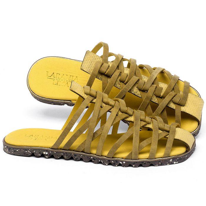 Laranja_Lima_Shoes_Sapatos_Femininos_Sandalia_Rasteira_Flat_em_Couro_Amarelo_-_Codigo_-_145053_1