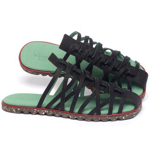 Laranja_Lima_Shoes_Sapatos_Femininos_Sandalia_Rasteira_Flat_em_Couro_Preto_-_Codigo_-_145053_1