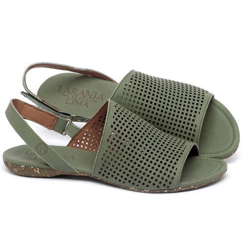 Laranja_Lima_Shoes_Sapatos_Femininos_Sandalia_Rasteira_Flat_em_Couro_Verde_-_Codigo_-_148031_1
