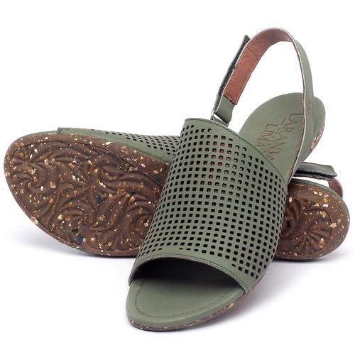 Laranja_Lima_Shoes_Sapatos_Femininos_Sandalia_Rasteira_Flat_em_Couro_Verde_-_Codigo_-_148031_2