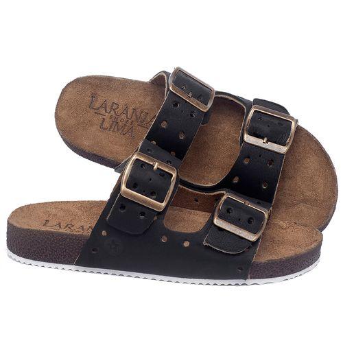 Laranja_Lima_Shoes_Sapatos_Femininos_Sandalia_Rasteira_Flat_em_Couro_Preto_-_Codigo_-_148032_1