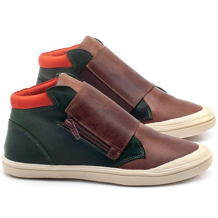 Laranja_Lima_Shoes_Sapatos_Femininos_Tenis_Cano_Alto_em_Couro_Marrom_-_Codigo_-_56090_1