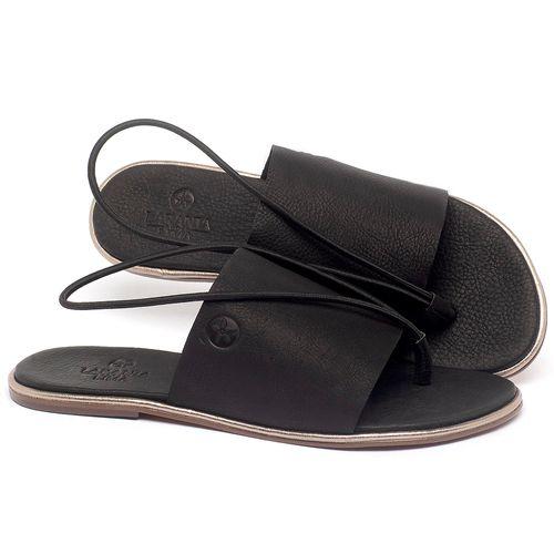 Laranja_Lima_Shoes_Sapatos_Femininos_Sandalia_Rasteira_Flat_em_Couro_Preto_-_Codigo_-_3657_1