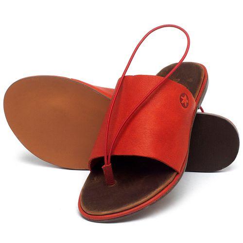 Laranja_Lima_Shoes_Sapatos_Femininos_Sandalia_Rasteira_Flat_em_Couro_Vermelho_-_Codigo_-_3657_2