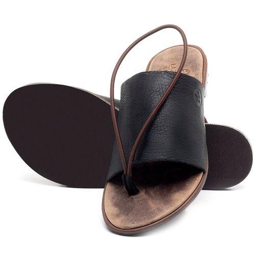 Laranja_Lima_Shoes_Sapatos_Femininos_Sandalia_Rasteira_Flat_em_Couro_Preto_-_Codigo_-_3657_2