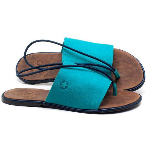 Laranja_Lima_Shoes_Sapatos_Femininos_Sandalia_Rasteira_Flat_em_Couro_Azul_-_Codigo_-_3657_1