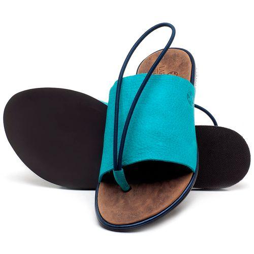 Laranja_Lima_Shoes_Sapatos_Femininos_Sandalia_Rasteira_Flat_em_Couro_Azul_-_Codigo_-_3657_2