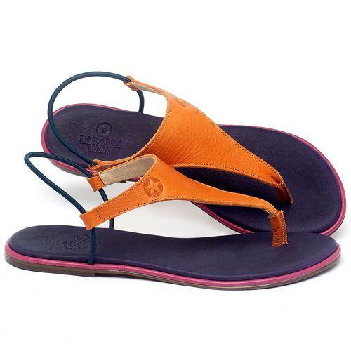 Laranja_Lima_Shoes_Sapatos_Femininos_Sandalia_Rasteira_Flat_em_Couro_Laranja_-_Codigo_-_3720_1