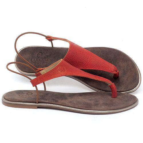Laranja_Lima_Shoes_Sapatos_Femininos_Sandalia_Rasteira_Flat_em_Couro_Vermelho_-_Codigo_-_3720_1
