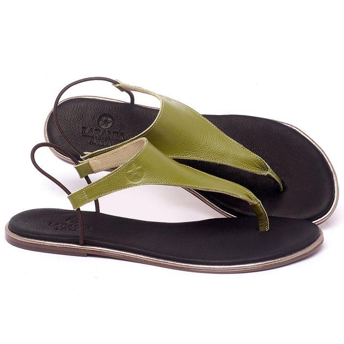 Laranja_Lima_Shoes_Sapatos_Femininos_Sandalia_Rasteira_Flat_em_Couro_Verde_-_Codigo_-_3720_1