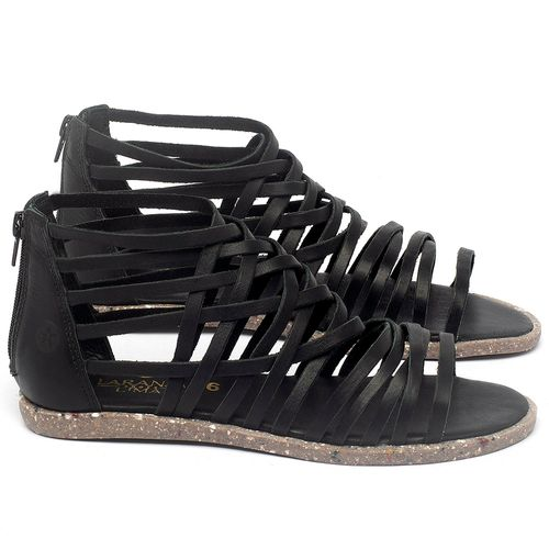 Laranja_Lima_Shoes_Sapatos_Femininos_Sandalia_Rasteira_Flat_em_Couro_Preto_-_Codigo_-_137307_1