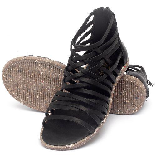 Laranja_Lima_Shoes_Sapatos_Femininos_Sandalia_Rasteira_Flat_em_Couro_Preto_-_Codigo_-_137307_2