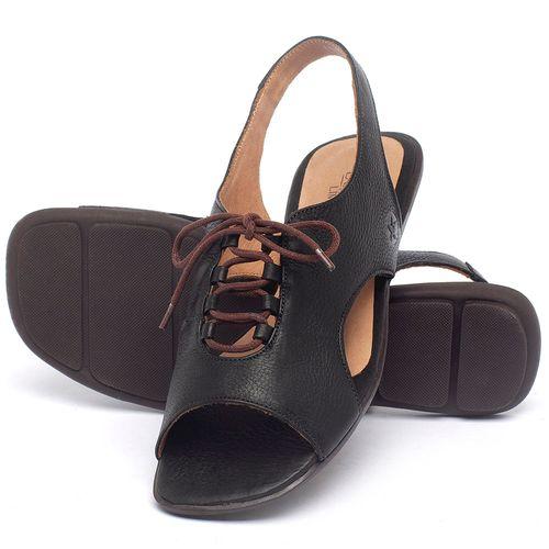 Laranja_Lima_Shoes_Sapatos_Femininos_Sandalia_Rasteira_Flat_em_Couro_Preto_-_Codigo_-_9481_2