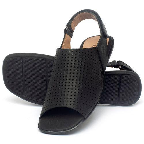 Laranja_Lima_Shoes_Sapatos_Femininos_Sandalia_Rasteira_Flat_em_Couro_Preto_-_Codigo_-_9482_2