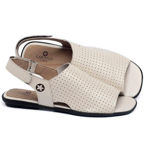 Laranja_Lima_Shoes_Sapatos_Femininos_Sandalia_Rasteira_Flat_em_Couro_Off-White_-_Codigo_-_9482_1