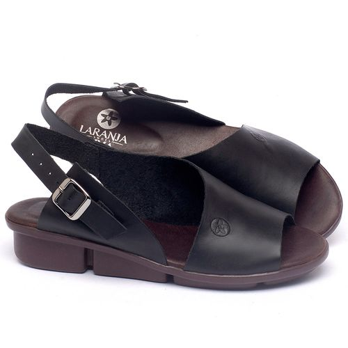 Laranja_Lima_Shoes_Sapatos_Femininos_Sandalia_Rasteira_Flat_em_Couro_Preto_-_Codigo_-_136097_1