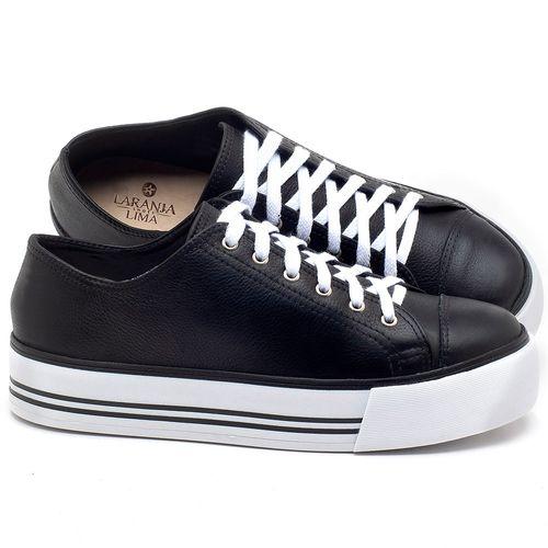 Laranja_Lima_Shoes_Sapatos_Femininos_Tenis_Cano_Baixo_em_Couro_Preto_-_Codigo_-_9446_1