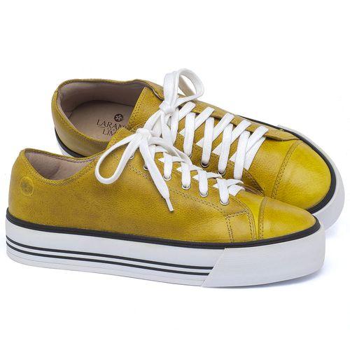 Laranja_Lima_Shoes_Sapatos_Femininos_Tenis_Cano_Baixo_em_Couro_Amarelo_-_Codigo_-_9446_1