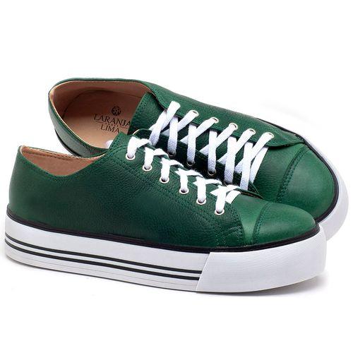 Laranja_Lima_Shoes_Sapatos_Femininos_Tenis_Cano_Baixo_em_Couro_Verde_-_Codigo_-_9446_1