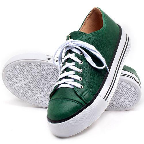 Laranja_Lima_Shoes_Sapatos_Femininos_Tenis_Cano_Baixo_em_Couro_Verde_-_Codigo_-_9446_2