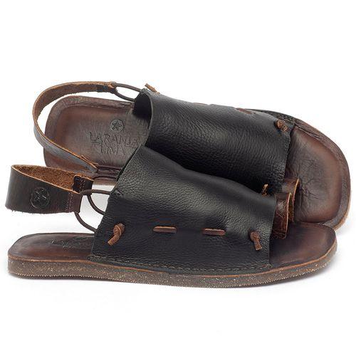 Laranja_Lima_Shoes_Sapatos_Femininos_Sandalia_Rasteira_Flat_em_Couro_Preto_-_Codigo_-_141154_1
