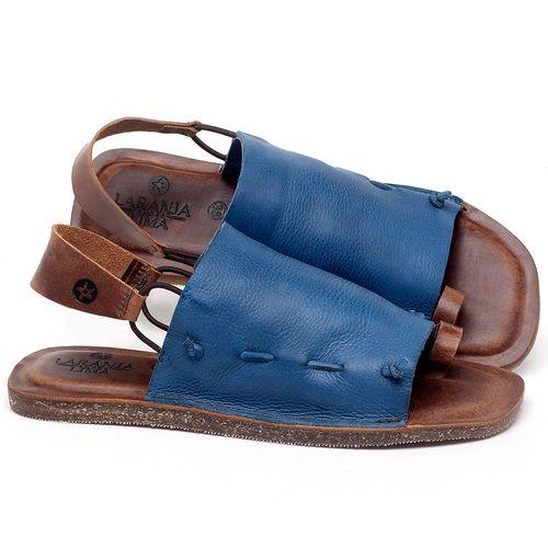 Laranja_Lima_Shoes_Sapatos_Femininos_Sandalia_Rasteira_Flat_em_Couro_Azul_-_Codigo_-_141154_1