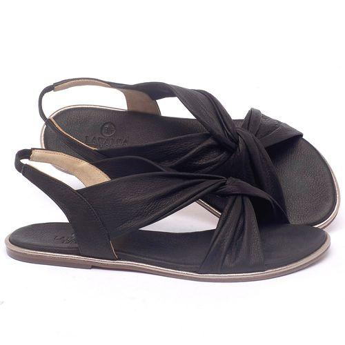 Laranja_Lima_Shoes_Sapatos_Femininos_Sandalia_Rasteira_Flat_em_Couro_Preto_-_Codigo_-_3654_1