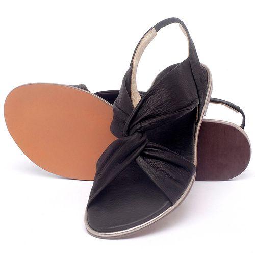 Laranja_Lima_Shoes_Sapatos_Femininos_Sandalia_Rasteira_Flat_em_Couro_Preto_-_Codigo_-_3654_2