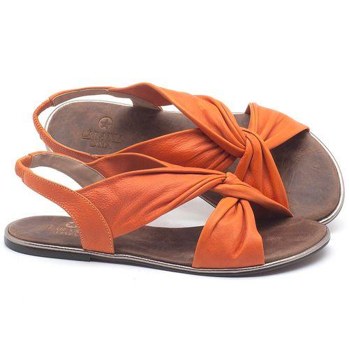 Laranja_Lima_Shoes_Sapatos_Femininos_Sandalia_Rasteira_Flat_em_Couro_Laranja_-_Codigo_-_3654_1