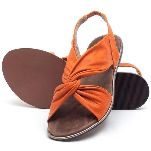 Laranja_Lima_Shoes_Sapatos_Femininos_Sandalia_Rasteira_Flat_em_Couro_Laranja_-_Codigo_-_3654_2