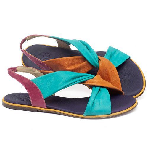 Laranja_Lima_Shoes_Sapatos_Femininos_Sandalia_Rasteira_Flat_em_Couro_Multicolor_-_Codigo_-_3654_1