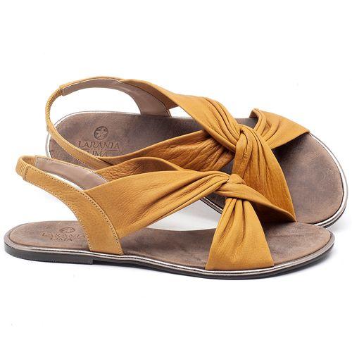 Laranja_Lima_Shoes_Sapatos_Femininos_Sandalia_Rasteira_Flat_em_Couro_Amarelo_-_Codigo_-_3654_1