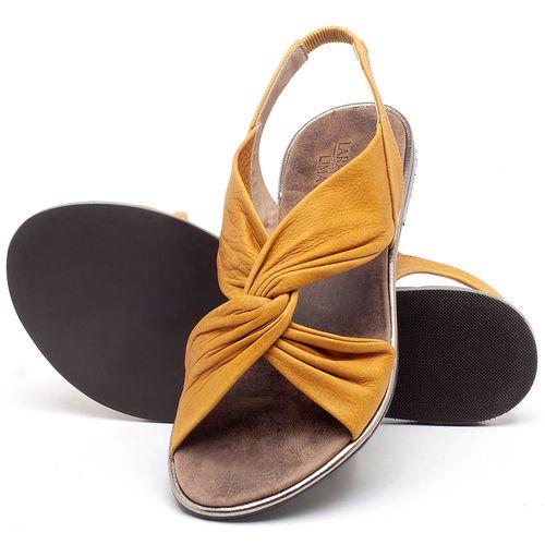 Laranja_Lima_Shoes_Sapatos_Femininos_Sandalia_Rasteira_Flat_em_Couro_Amarelo_-_Codigo_-_3654_2