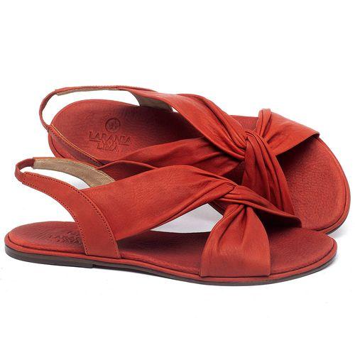 Laranja_Lima_Shoes_Sapatos_Femininos_Sandalia_Rasteira_Flat_em_Couro_Vermelho_-_Codigo_-_3654_1