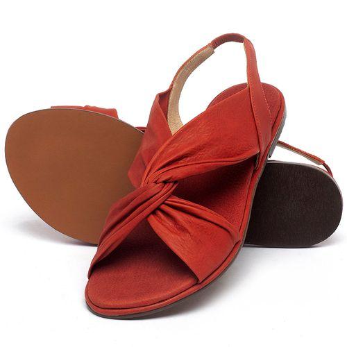 Laranja_Lima_Shoes_Sapatos_Femininos_Sandalia_Rasteira_Flat_em_Couro_Vermelho_-_Codigo_-_3654_2