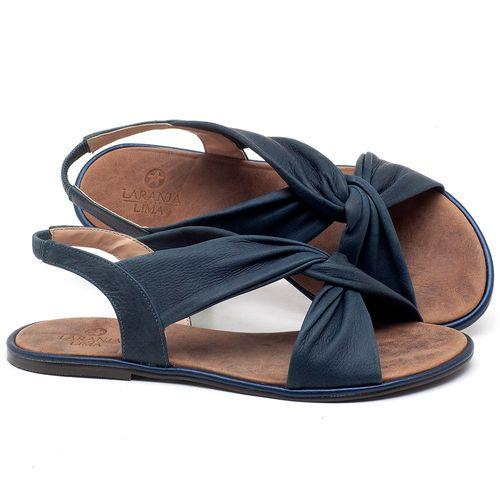 Laranja_Lima_Shoes_Sapatos_Femininos_Sandalia_Rasteira_Flat_em_Couro_Marinho_-_Codigo_-_3654_1
